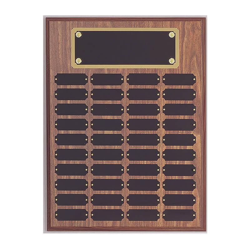 12x16 Perpetual Name Plaque - Black