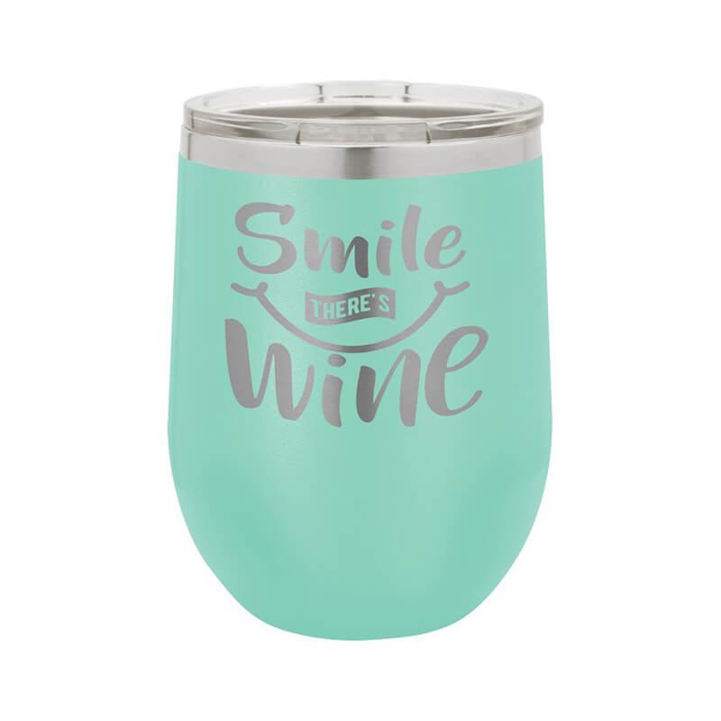 Teal Stemless Wine Tumbler 12 oz