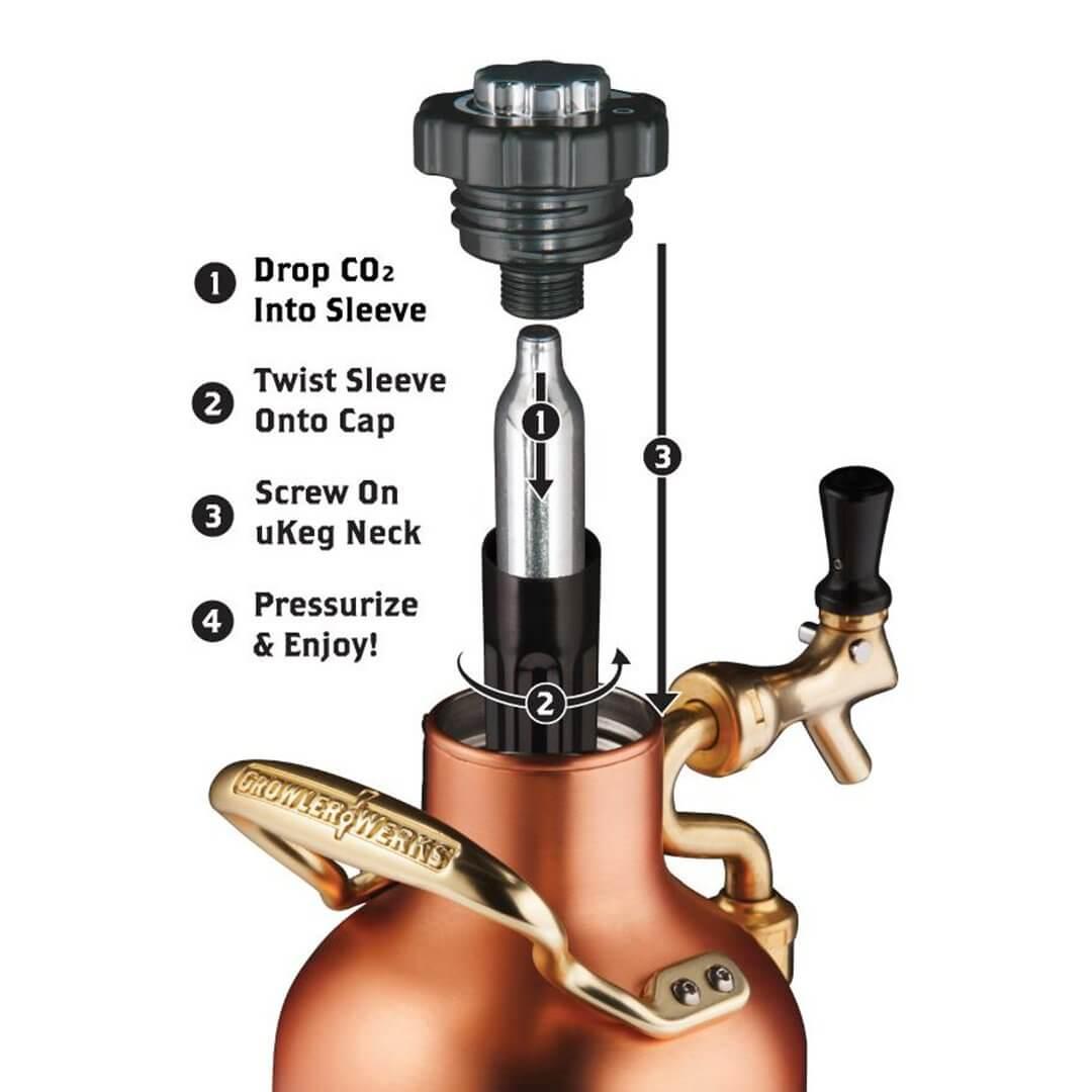 64oz uKeg - Copper