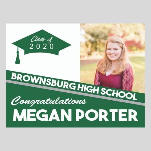 2020 Grad Lawn Sign w/Photo