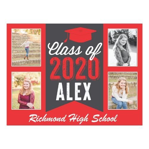 2020 Grad Lawn Sign w/Four Photos